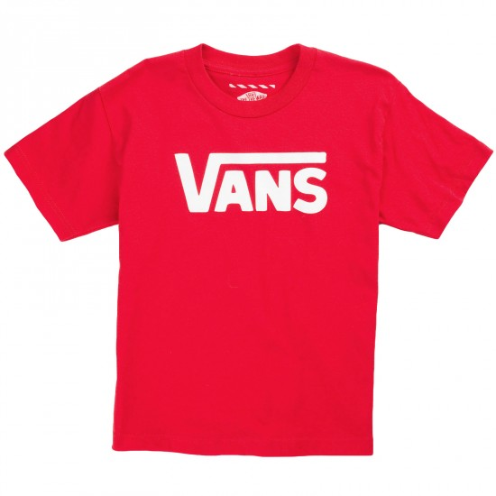 Vans Classic Youth T-Shirt - Red/White