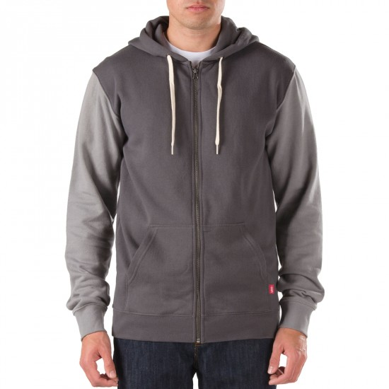 Vans Core Basics Colorblock Zip Hoodie - Gravel/Frost Grey