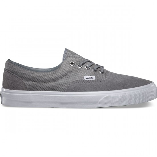 Vans Era Hemp Shoes - Monument/True White - 8.0