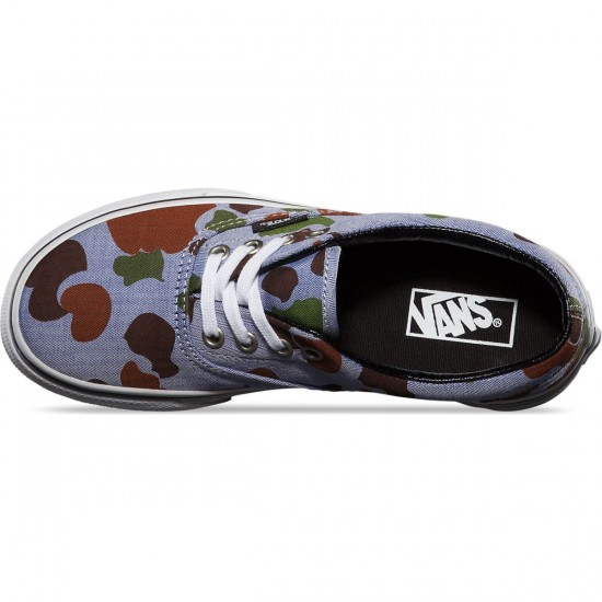 Vans Era Herringbone Youth Shoes - Camo/Navy - 4.0