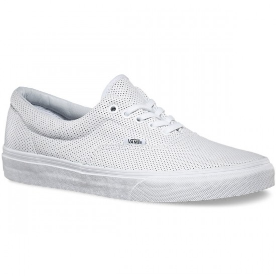 Vans Era Perforated Leather Shoes - True White - 6.0
