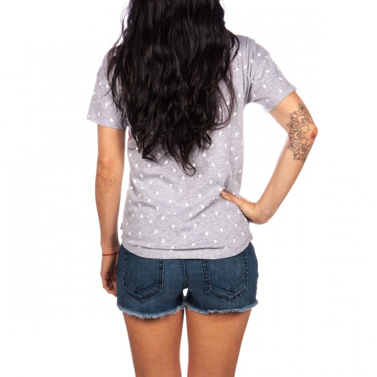 Vans Head Trip Women's V-Neck T-Shirt - Grey Heather