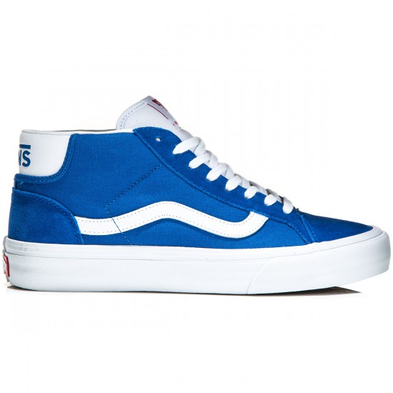 Vans Mid Skool Pro Shoes - Blue/White - 8.0