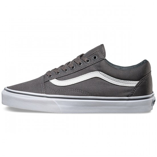 Vans Old Skool Canvas Shoes - Pewter/True White - 6.0
