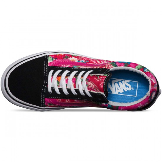Vans Multi Floral Old Skool Core Classics Shoes - True White - 7.5