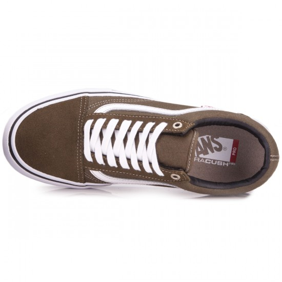 Vans Old Skool Pro Shoes - Dark Olive/White - 6.5