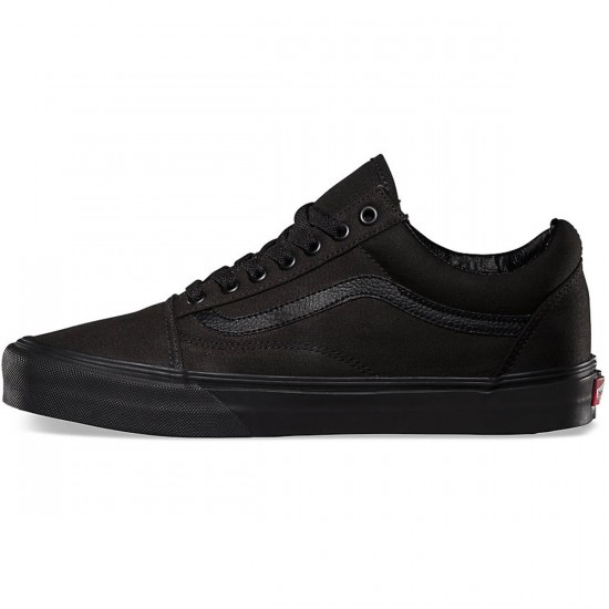Vans Old Skool Shoes - Black/Black - 9.5