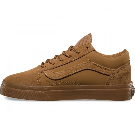 Vans Old Skool Suede Buck Youth Shoes - Tobacco Brown - 4.0