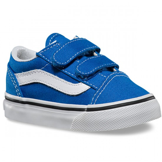Vans Old Skool V Toddler/Little Kid Shoes - Princess Blue - 10.5C