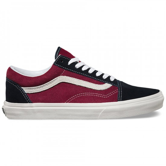 Vans Old Skool Vintage Shoes - Blue Graphite/Windsor Wine - 6.0