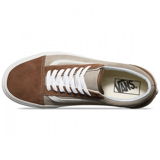 Vans Old Skool Vintage Shoes - Dark Earth/Aluminum - 6.0