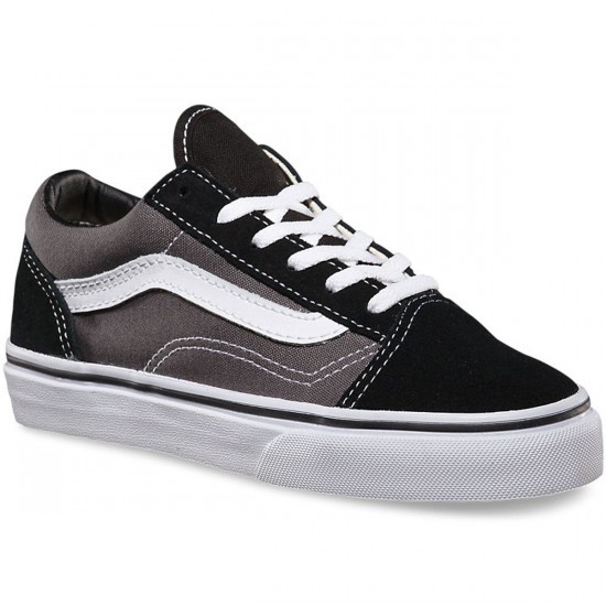 Vans Old Skool Youth Shoes - Black/Pewter - 2.0