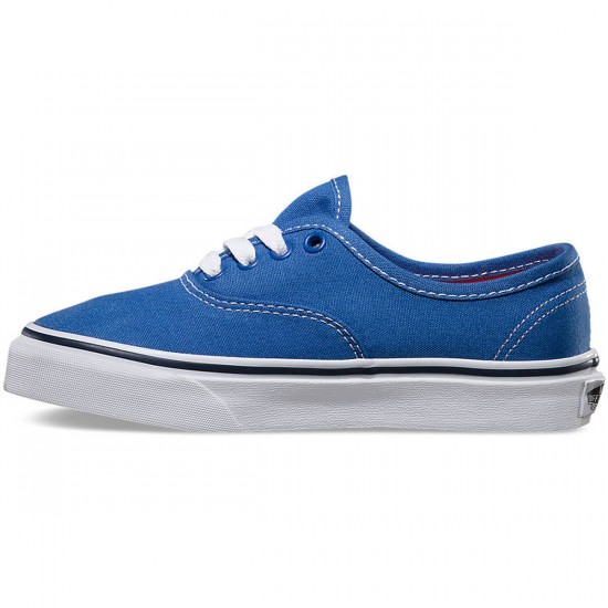 Vans Pop Authentic Youth Shoes - Strong Blue/Nasturtium - 4.0