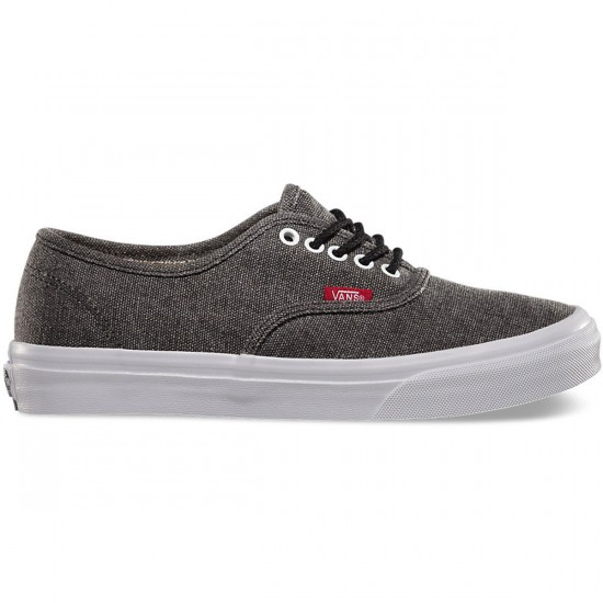 Vans Rope Lace Authentic Slim Womens Shoes - Black/True White - 4.0
