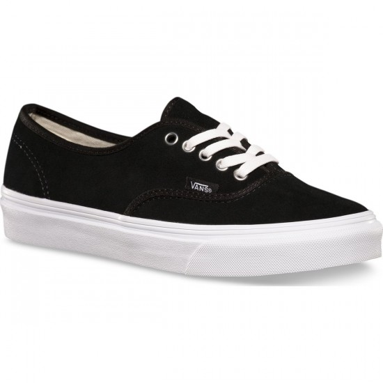 Vans Authentic Slim Shoes - Black Suede - 6.0