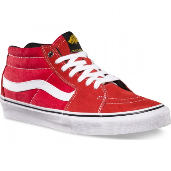 Vans Black Label Sk8-Mid Pro Shoes - Red - 8.0