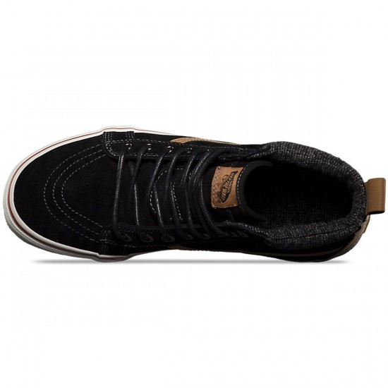 Vans Sk8-Hi MTE Shoes - Black/Tobacco Brown - 9.0