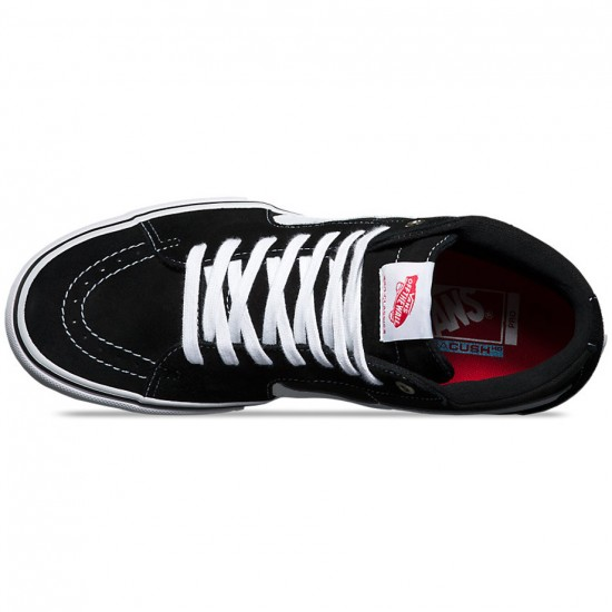 Vans Sk8-Hi Pro Shoes - Black/Canvas Suede/White - 8.0