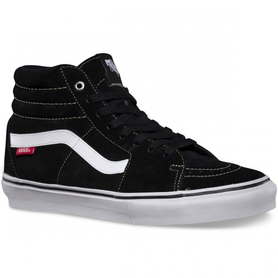 Vans Sk8-Hi Pro Shoes - Black/White/Red - 9.0