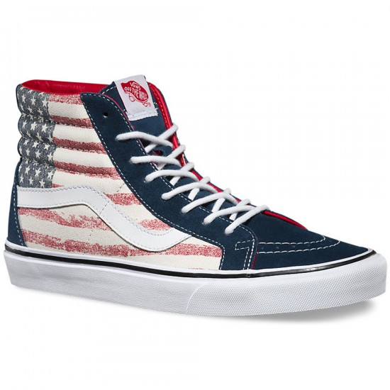 Vans SK8-HI Reissue Americana Youth Shoes - Dress Blue - 3.5