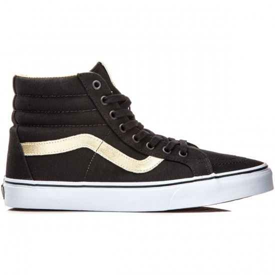 Vans SK8-Hi Reissue Shoes - Black/Gold - 8.0
