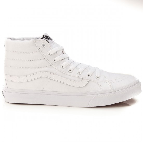 Vans SK8-Hi Slim Shoes - True White - 6.0