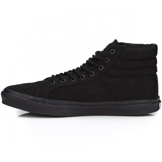 Vans SK8-Hi Slim Shoes - Black/Black - 6.0