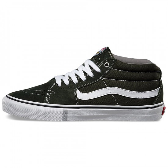Vans x Anti-Hero Sk8-Mid Pro Shoes - Green/Grosso - 8.0
