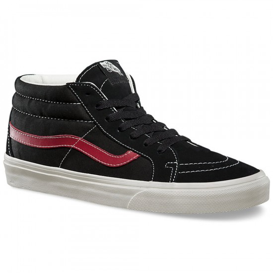 Vans Sk8-Mid Reissue Sport Vintage Shoes - Black - 8.0