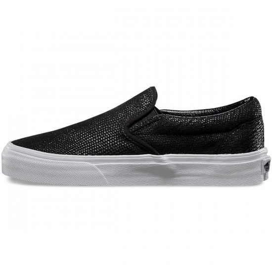 Vans Pebble Snake Slip-On Shoes - Black - 3.5