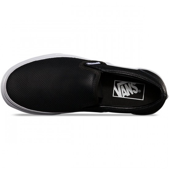 Vans Perf Leather Slip-On Shoes - Black - 3.5