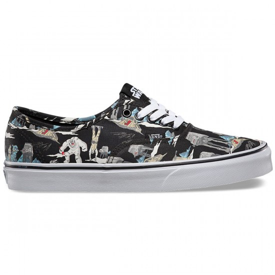 Vans Star Wars Authentic Shoes - Dark Side/Planet Hoth - 7.0