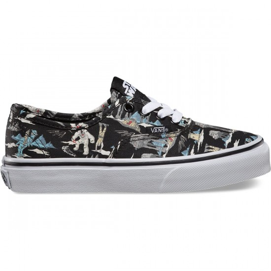 Vans Star Wars Authentic Youth Shoes - Dark Side/Planet Hoth - 1Y