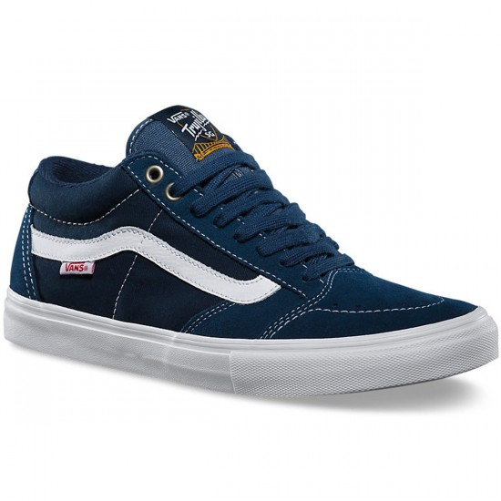 Vans TNT SG Washed Canvas Shoes - Navy/White - 8.0
