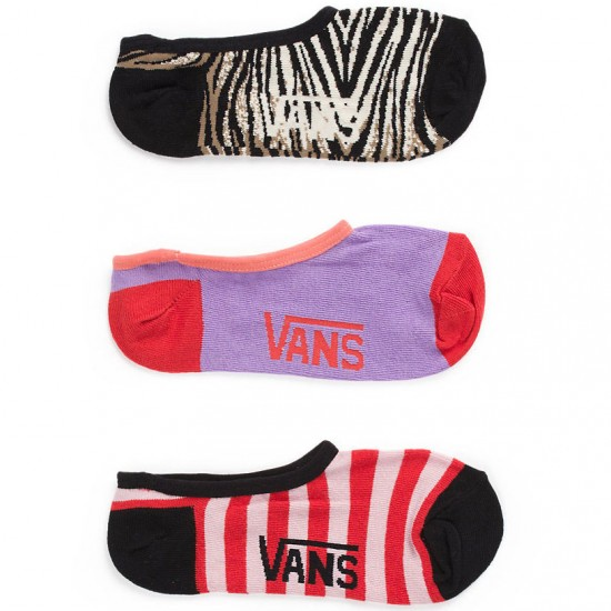 Vans Tobie Canoodle Socks - 3 Pack - Neon Orange