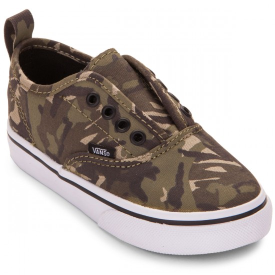 Vans Authentic Toddler/Little Kid Shoes - Camo Olive/True White - 4.0