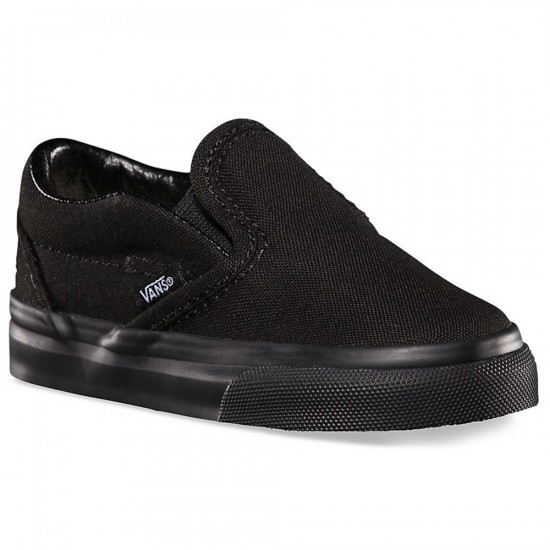 Vans Infant/Toddler Slip-On Shoes - Black/Black - 10.5C