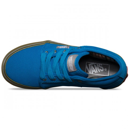 Vans Youth Chukka Midtop Shoes - Bright Blue/Gum  - 3.0