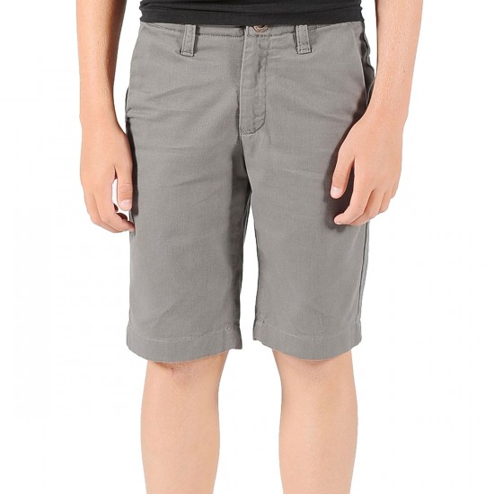 Volcom Faceted Youth Shorts - Grey