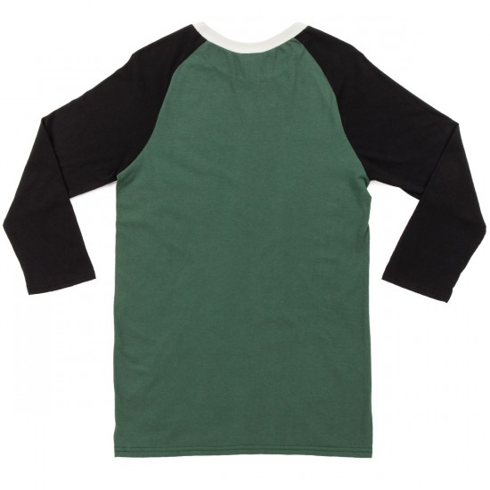 Volcom Fall Peaks 3/4 Sleeve Raglan T-Shirt - Jungle Green