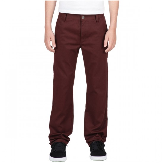 Volcom Frickin Modern Street Boys Pants - Cherry Wood - 28 - 32