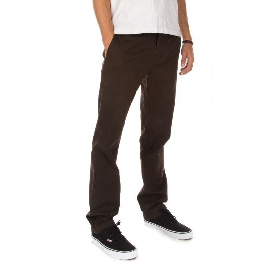 Volcom Frickin Modern Stretch Chino Pants - Bark Brown - 34 - 32