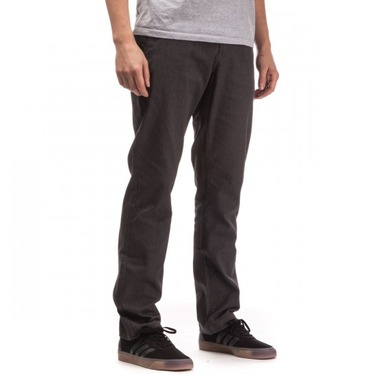 Volcom Frickin Modern Stretch Chino Pants - Charcoal Heather - 29 - 32