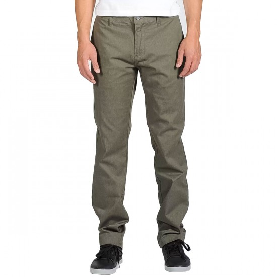 Volcom Frickin Modern Stretch Chino Pants - Fatigue Green Heather