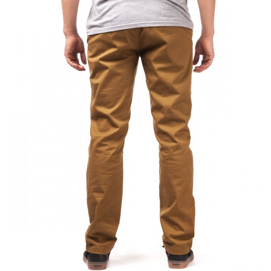 Volcom Frickin Modern Stretch Pants - Dark Khaki - 28 - 32
