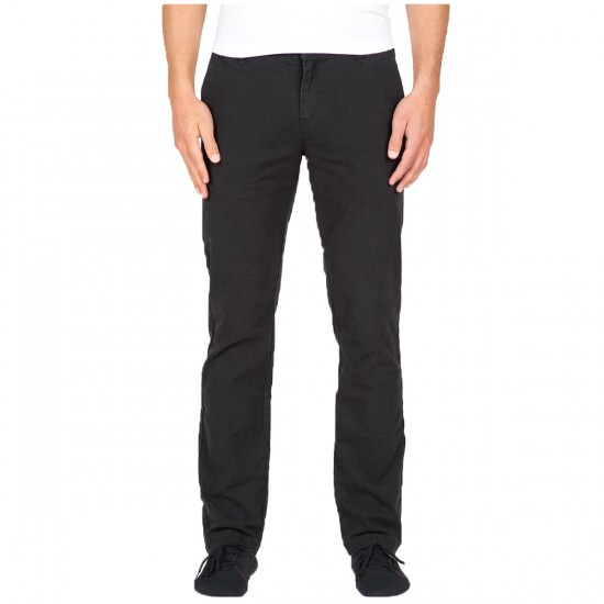 Volcom Frickin Slim Canvas Pants - Black - 28 - 32
