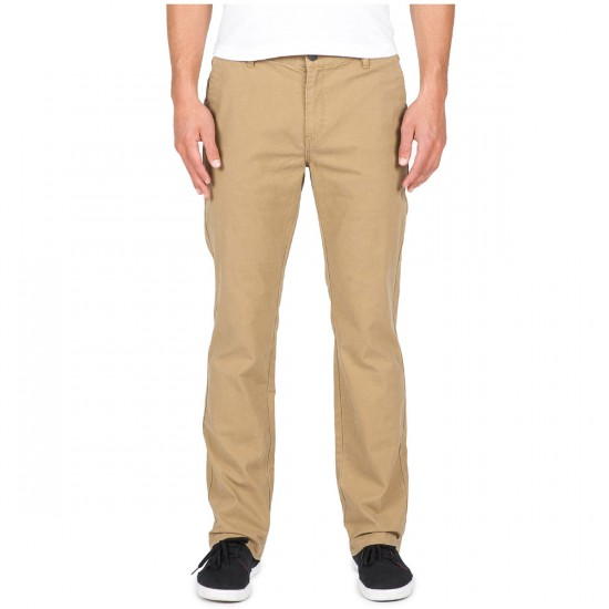 Volcom Frickin Slim Canvas Pants - Dark Khaki - 28 - 32