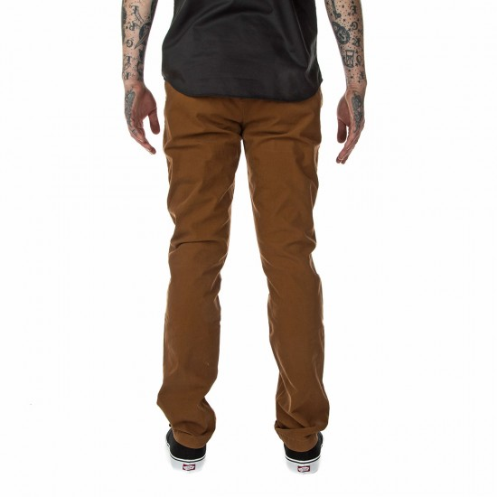 Volcom Frickin Slim Canvas Pants - Mocha - 33 - 32