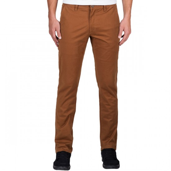 Volcom Frickin Slim Chino Pants - Mud - 30 - 32