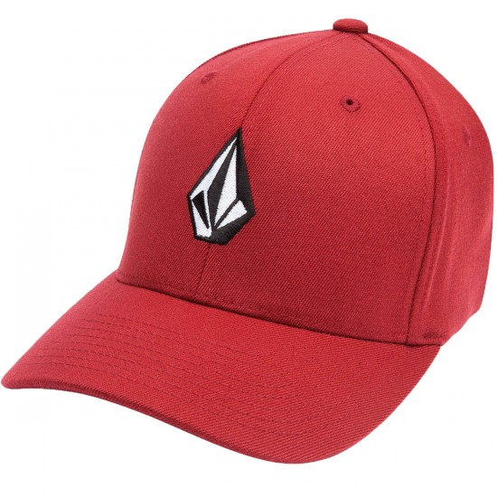 Volcom Full Stone Flexfit Hat - Crimson